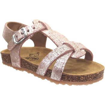 Schoenen Meisjes Sandalen / Open schoenen Plakton Paula Metallic roze