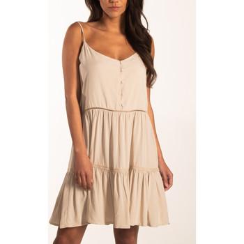 Textiel Dames Korte jurken Beachlife Zomerjurkje met dunne bandjes Beachwear Geel