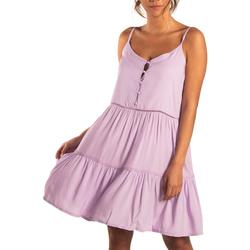 Textiel Dames Korte jurken Beachlife Zomerjurkje met dunne bandjes Lavendula Paars/oranje
