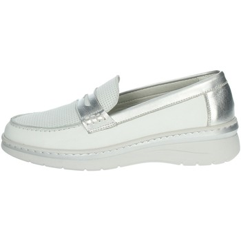 Schoenen Dames Mocassins Notton 3200 White/Silver
