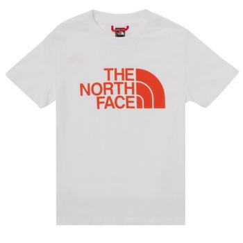 Textiel Jongens T-shirts korte mouwen The North Face EASY TEE SS Wit