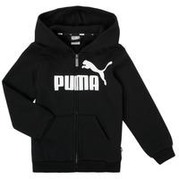 Textiel Jongens Sweaters / Sweatshirts Puma ESSENTIAL BIG LOGO FZ HOODIE Zwart