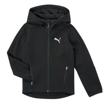Textiel Jongens Sweaters / Sweatshirts Puma EVOSTRIPE FZ HOODED JACKET Zwart