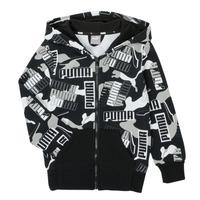 Textiel Jongens Sweaters / Sweatshirts Puma ALPHA AOP FZ Zwart