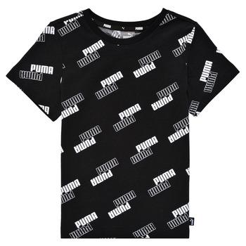 Textiel Jongens T-shirts korte mouwen Puma PUMA POWER AOP TEE Zwart