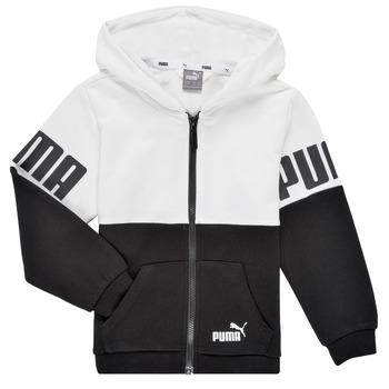 Textiel Jongens Sweaters / Sweatshirts Puma PUMA POWER FZ HOODIE Zwart / Wit