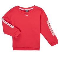 Textiel Meisjes Sweaters / Sweatshirts Puma ALPHA CREW SWEAT Roze