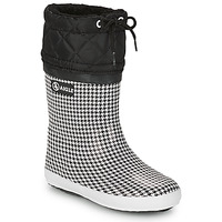 Schoenen Meisjes Snowboots Aigle GIBOULEE PRINT Zwart / Wit