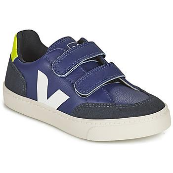 Schoenen Kinderen Lage sneakers Veja SMALL V-12 VELCRO Blauw / Wit