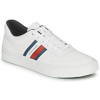 Schoenen Heren Lage sneakers Tommy Hilfiger CORE CORPORATE STRIPES VULC Wit