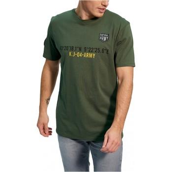 Textiel Heren T-shirts korte mouwen Kaporal TEFAR Groen