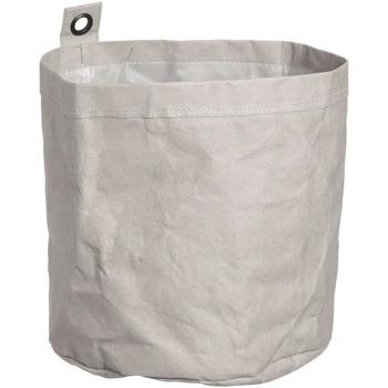 Wonen Trunks, opbergdozen Furniteam Wasbare Kartonnen Doos met Metalen Oogje, Groot Grijs