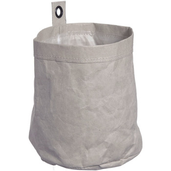 Wonen Trunks, opbergdozen Furniteam Wasbare Kartonnen Doos met Metalen Oogje, Medium Grijs