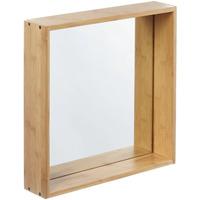 Wonen Spiegels Furniteam Design Wandspiegel Planken, Groot Naturel