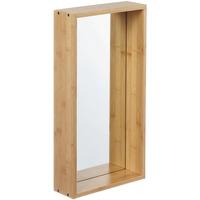 Wonen Spiegels Furniteam Design Wandspiegel Planken, Medium Naturel