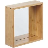 Wonen Spiegels Furniteam Design Wandspiegel Planken, Klein Naturel
