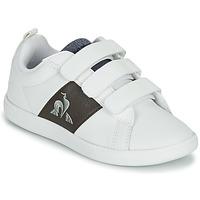 Schoenen Kinderen Lage sneakers Le Coq Sportif COURTCLASSIC PS Wit / Bruin