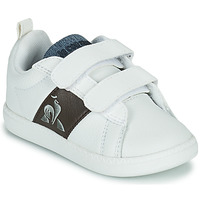 Schoenen Kinderen Lage sneakers Le Coq Sportif COURTCLASSIC INF Wit / Bruin