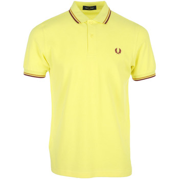Textiel Heren Polo's korte mouwen Fred Perry Twin Tipped Shirt Geel