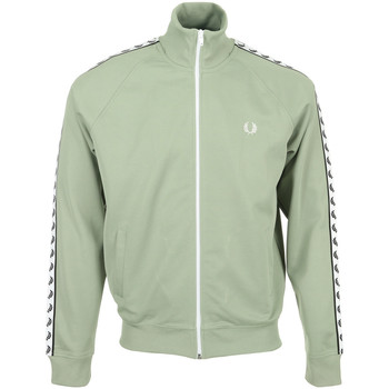 Textiel Heren Trainings jassen Fred Perry Taped Track Jacket Groen