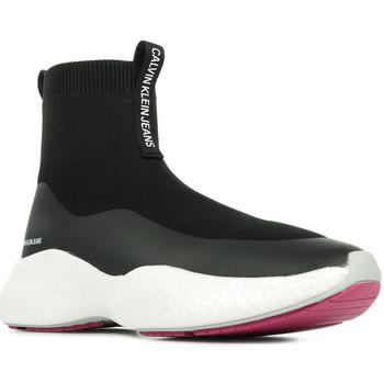 Schoenen Dames Hoge sneakers Calvin Klein Jeans Runner Sneaker Sock Zwart
