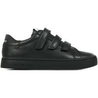 Schoenen Dames Lage sneakers Calvin Klein Jeans Cupsole Sneaker Threestrap Zwart