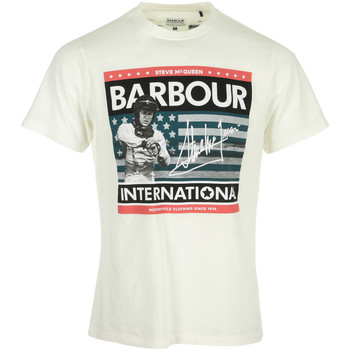 Textiel Heren T-shirts korte mouwen Barbour Time Steve Tee Wit
