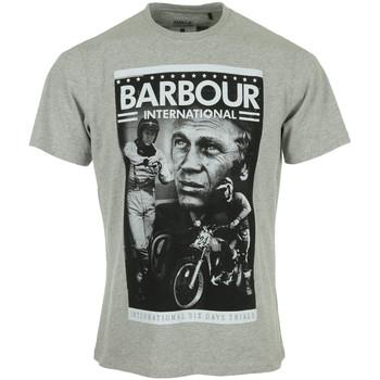 Textiel Heren T-shirts korte mouwen Barbour Combo SMQ Tee Grijs