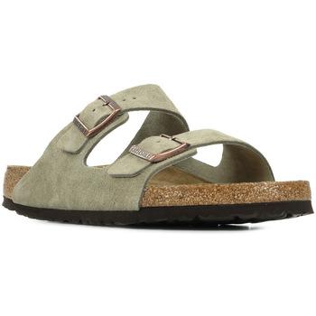 Schoenen Heren Leren slippers Birkenstock Arizona Bs Grijs