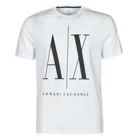Textiel Heren T-shirts korte mouwen Armani Exchange HULO Wit