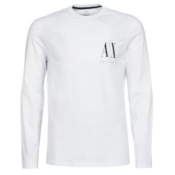 Textiel Heren T-shirts met lange mouwen Armani Exchange 8NZTPL Wit
