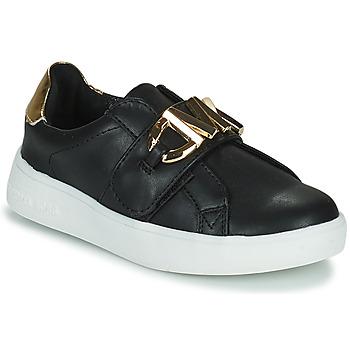 Schoenen Meisjes Lage sneakers MICHAEL Michael Kors JEM MK Zwart / Goud