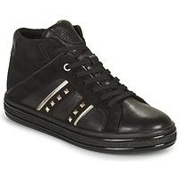 Schoenen Dames Hoge sneakers Geox LEELU Zwart / Zilver