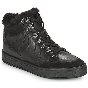Schoenen Dames Laarzen Geox LEELU Zwart