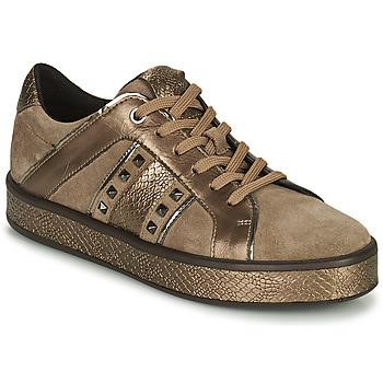 Schoenen Dames Lage sneakers Geox LEELU Bruin / Goud
