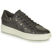 Schoenen Dames Lage sneakers Geox PONTOISE Zwart / Goud