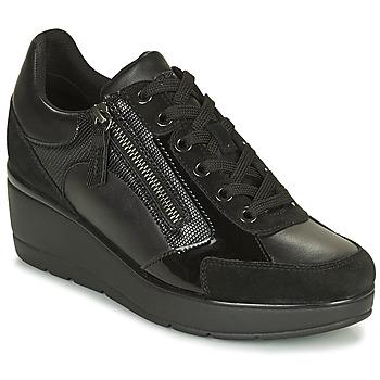 Schoenen Dames Lage sneakers Geox ILDE Zwart