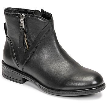 Schoenen Dames Enkellaarzen Geox CATRIA Zwart