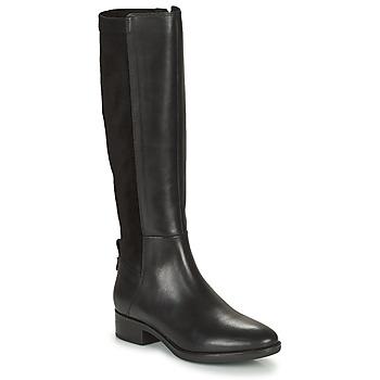 Schoenen Dames Hoge laarzen Geox FELICITY Zwart