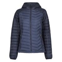 Textiel Dames Dons gevoerde jassen Columbia POWDER LITE HOODED JACKET Marine / Zwart