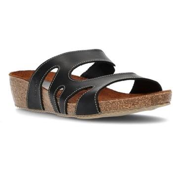 Schoenen Dames Leren slippers Interbios W ZWART
