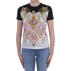 Textiel Dames T-shirts korte mouwen Versace Jeans Couture B2 HWA727 S0225 Rose