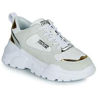 Schoenen Dames Lage sneakers Versace Jeans Couture FREMMI Wit / Goud / Zilver