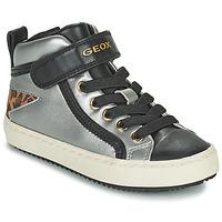 Schoenen Meisjes Hoge sneakers Geox KALISPERA Zilver