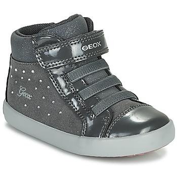 Schoenen Meisjes Hoge sneakers Geox GISLI Grijs