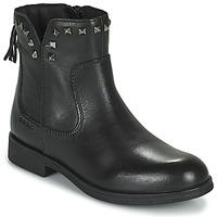 Schoenen Meisjes Laarzen Geox AGATO Zwart