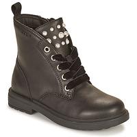 Schoenen Meisjes Laarzen Geox ECLAIR Zwart