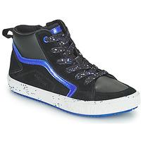 Schoenen Jongens Hoge sneakers Geox ALONISSO Zwart / Marine