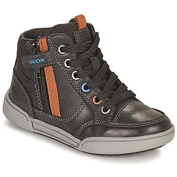 Schoenen Jongens Hoge sneakers Geox POSEIDO Bruin