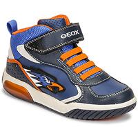 Schoenen Jongens Hoge sneakers Geox INEK Blauw / Oranje